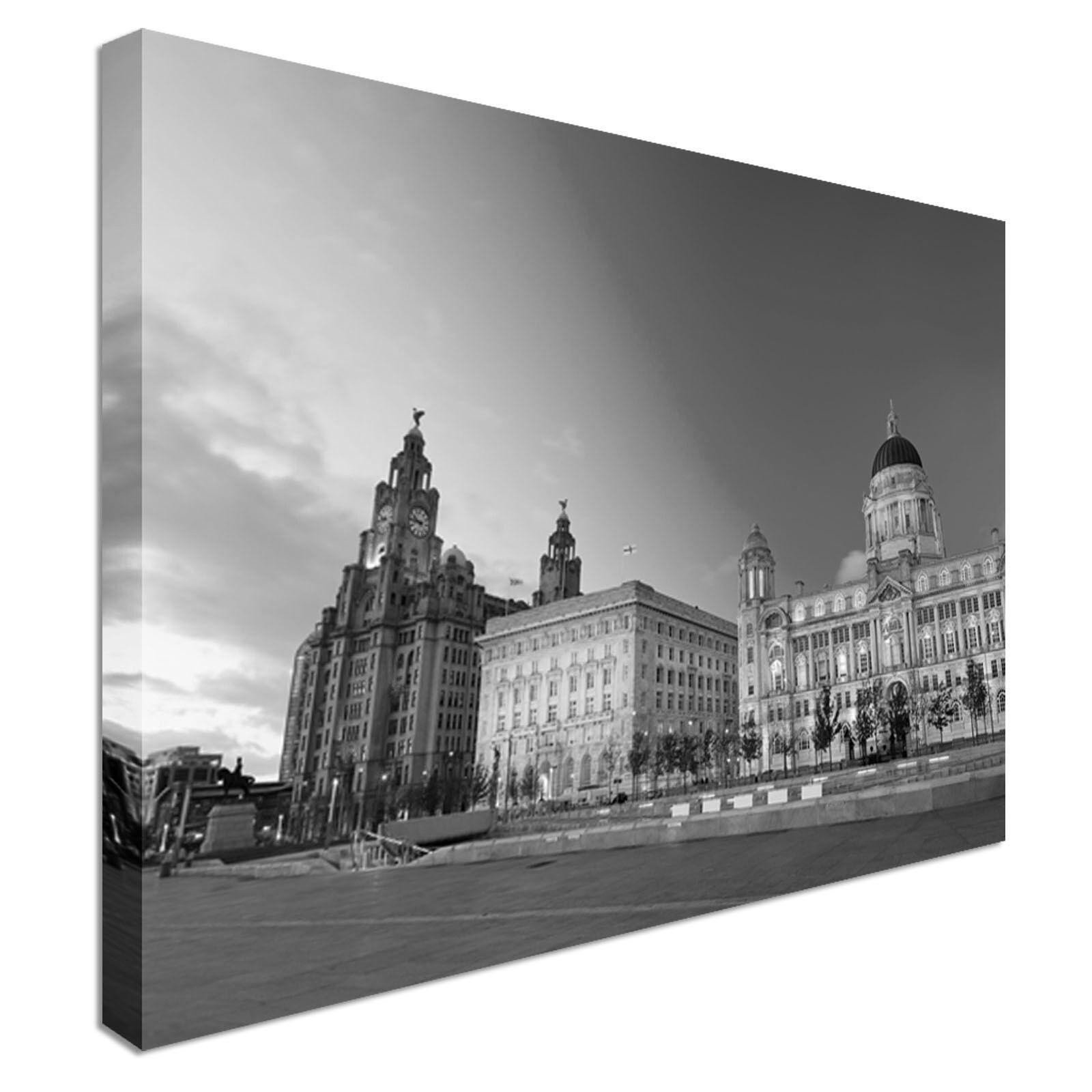 Liverpool City Centre-TRE GRAZIE ARTE Tela Stampa Muro a buon buon buon mercato tutte le dimensioni Cuccioli f200d8