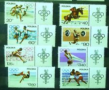 POLAND STAMPS MNH Fi1613-20 Sc1502-09  Mi1761-68 - Olympic Appeal - 1967,clean