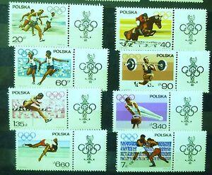 POLAND STAMPS MNH Fi1613-20 Sc1502-09 Mi1761-68 - Olympic Appeal, 1967, ** - Reda, Polska - POLAND STAMPS MNH Fi1613-20 Sc1502-09 Mi1761-68 - Olympic Appeal, 1967, ** - Reda, Polska