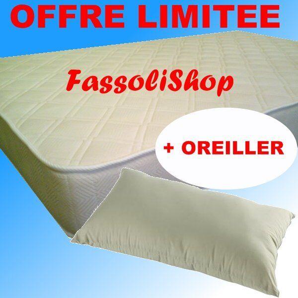 MATELAS LATEX POLILATTEX  90x190  H14 + + + N° 1  OREILLER c30966