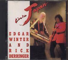 EDGAR WINTER RICK DERRINGER - Live in Japan - CD USA 1990 NEAR MINT CONDITION