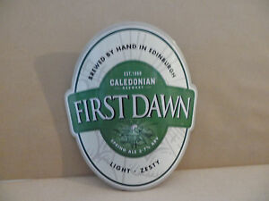CALEDONIAN-FIRST-DAWN-PLASTIC-Ale-Beer-Pump-Clip