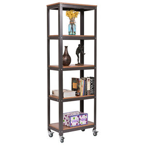rolling shelf rack 5 tier rolling bookcase rack display storage rack shelves 25636