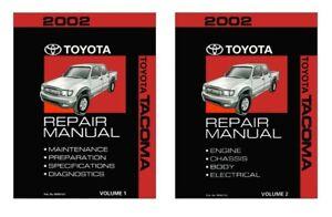 2002 Toyota Tacoma Shop Service Repair Manual Book Engine Drivetrain OEM