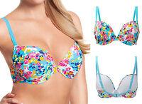 28D 28DD 28E Panache CW0094 Cleo Lulu Underwired Plunge Bikini Top Floral Print