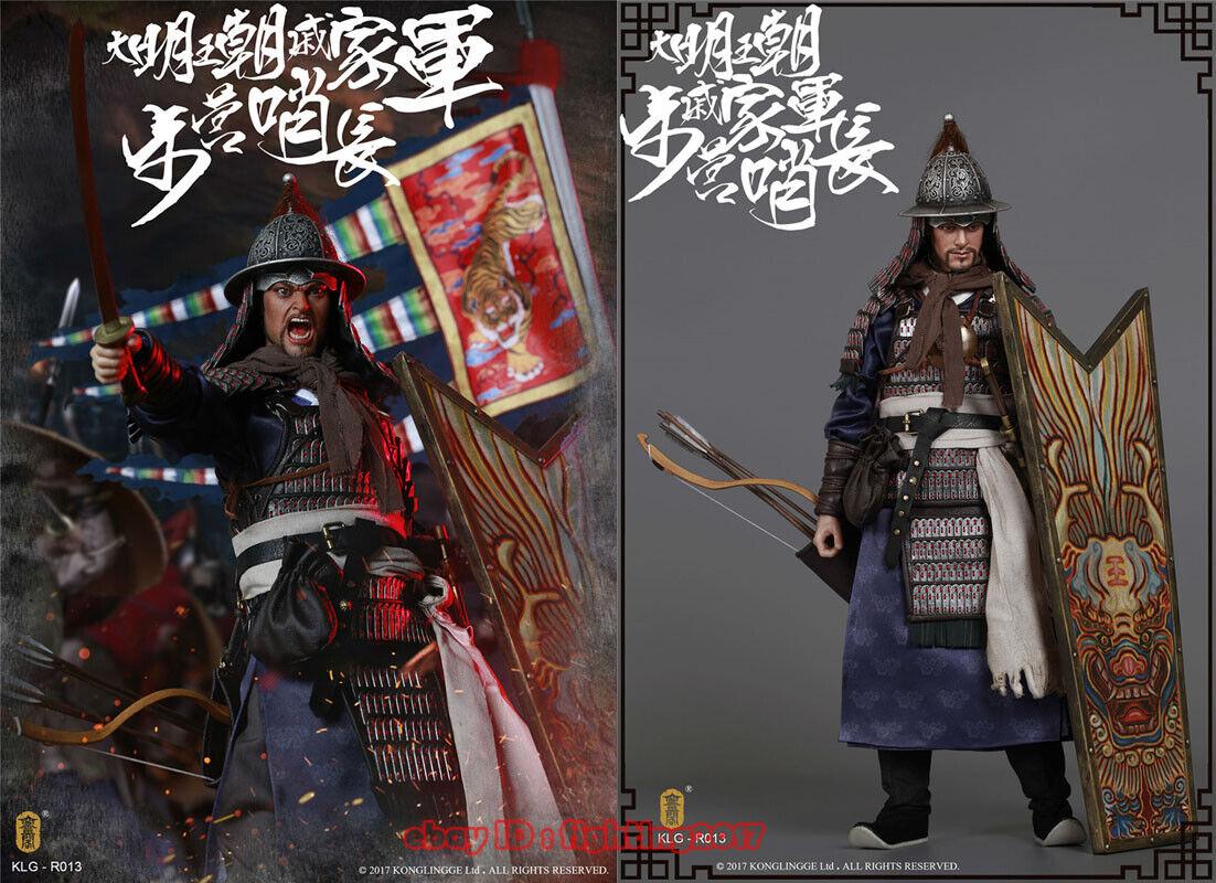 KONGLINGGE  KLG-R013 Ming Dynasty Qi Troop - Walk Camp Guard Leader 1 6 cifra  vendita calda