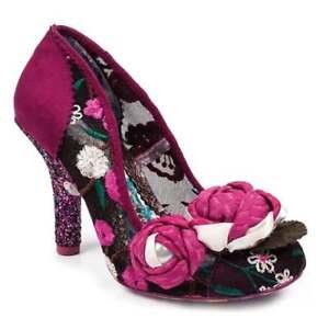 0f0f6f0eba2 Details about Irregular Choice Budding Beauty 4331-20A Womens High Heel  Court Shoes - Pink