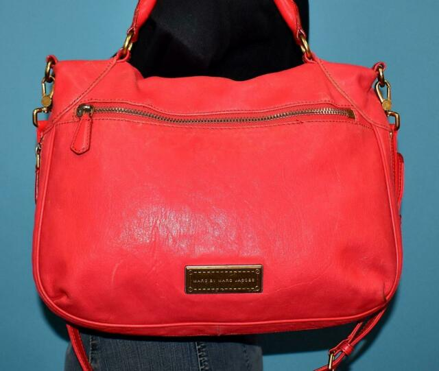 MARC by MARC JACOBS Neon Coral Pink Orange Crossbody Zip Bottom Shoulder Purse