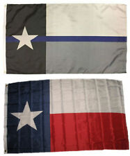 Wholesale 3x5 Police State Texas Flag Decal Sticker Memorial Lapel Pin Set 2