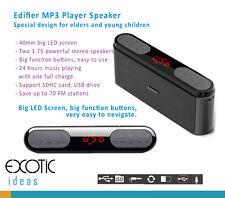 Edifier M19 MP3 Player Speaker FM SD USB w Large LED+Buttons for Elder &Children