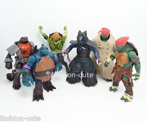 Lot-Set-6-x-TMNT-Teenage-Mutant-Ninja-Turtles-action-figures-Toy-Doll-5-in-034-13cm