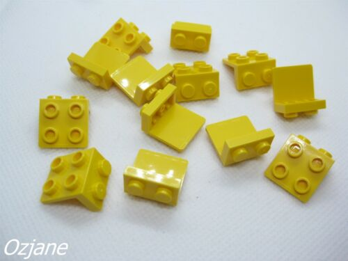 LEGO PART 44728 YELLOW BRACKET 1 X 2 AND 2 X 2 FOR 13 PIECES