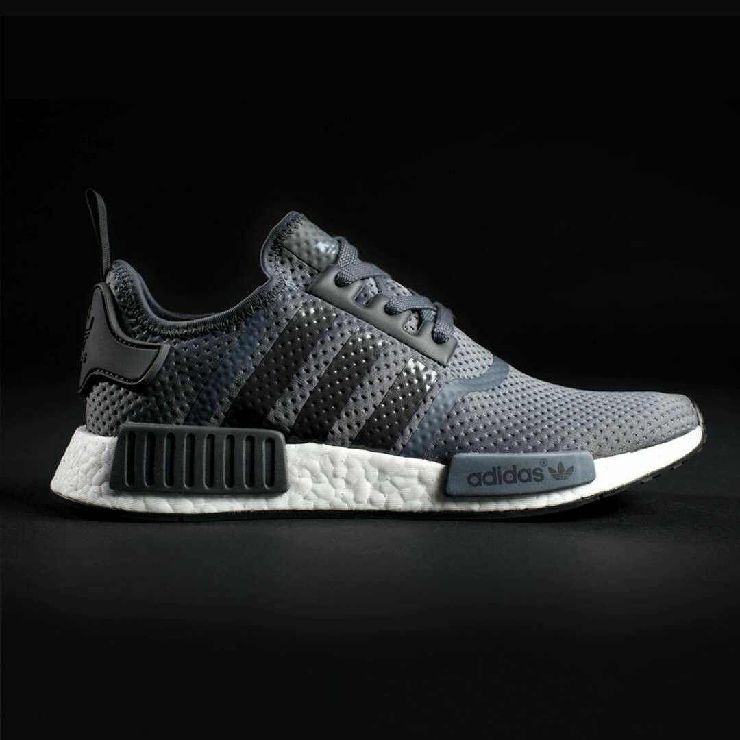 NEW Adidas Solid NMD R1 JD  Solid Adidas Dark Grey, White BB1355 Men's 8.5, 13 d0419d