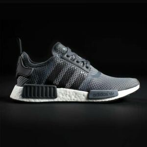 60b1ba983 Image is loading Adidas-NMD-R1-JD-Solid-Dark-Grey-White-