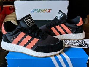 10d67d2fe9a Adidas Originals Iniki Runner W Boost Core Black Semi Flash Orange ...