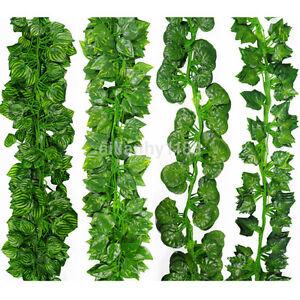 200cm-Ivy-Leaf-Garland-Green-Plant-Plastic-Vine-Foliage-Home-Garden-Decor-AME