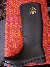BLACK TORY BURCH SARAH RAIN BOOT BRAND NEW IN THE BOX SIZE 8
