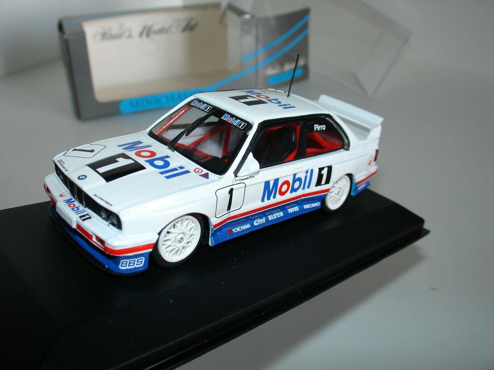 1 43 BMW M3 DTM  1 GP MACAU 1992  MOBIL 1  E. PIRRO MIN 22004 by MINICHAMPS