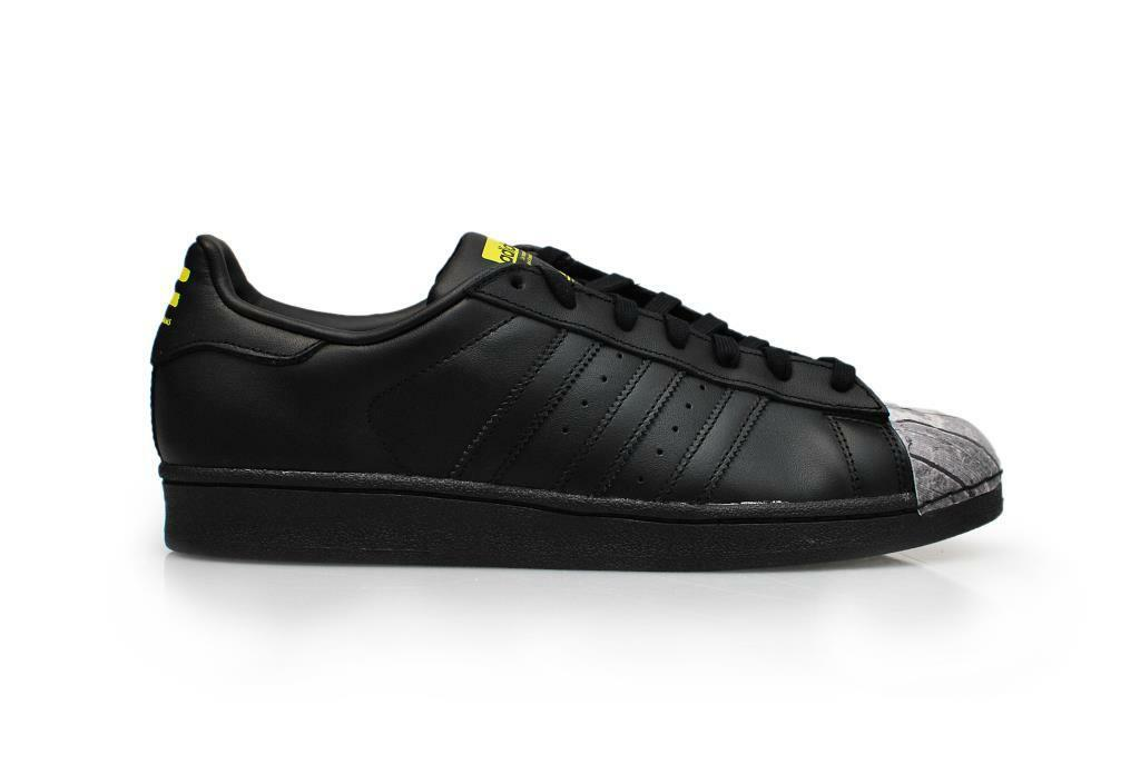men Adidas Superstar Pharrell Supersh - S83360 - black yellow shoes Sportive
