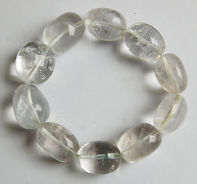 Edelstein-Armband Bergkristall, Nuggets 18 x 22 mm