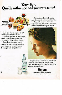 Other Breweriana Breweriana, Beer Orderly Publicite 1973 Hepar Eau Minérale Drip-Dry