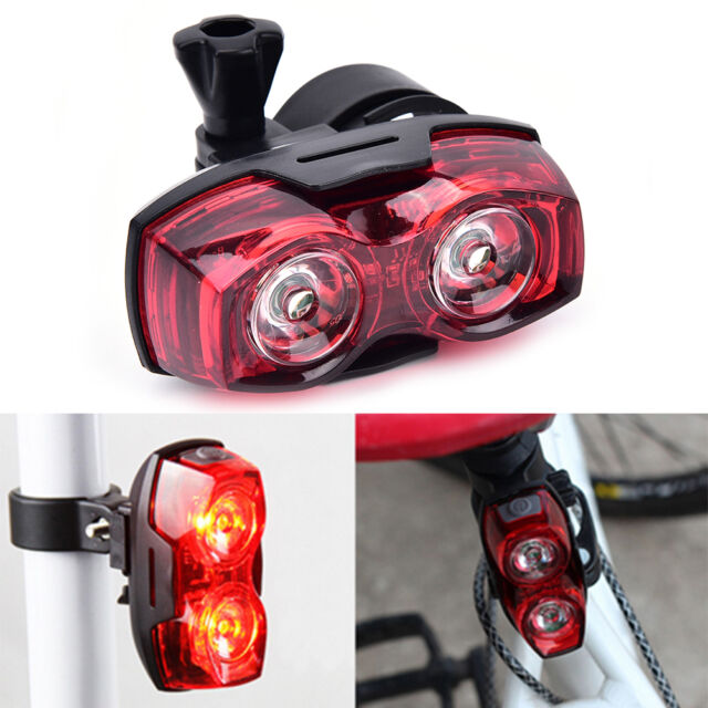 2LED bright cycling bicycle bike safety rear tail flashing back light lamp* TB