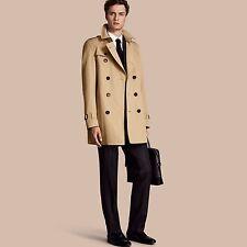 Burberry $1795 The Kensington Mid Length Heritage Men Trench Coat 46 Medium Hone