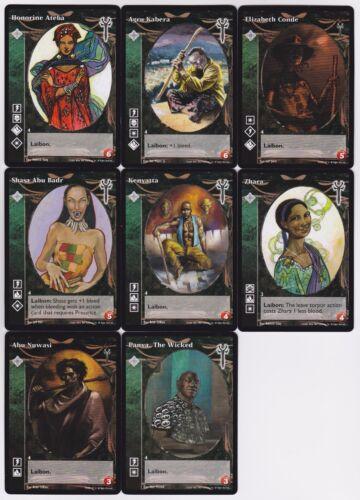 Ishtarri Small//Mid Cap Crypt Lot G3//G4 8x Vampires LoB//EK V:TES VTES