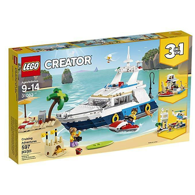 LEGO Creator 3in1 Cruising Adventures 31083 Building Kit, 597 Piece