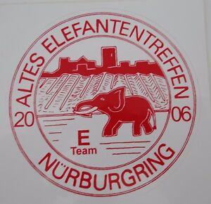 aufkleber altes elefantentreffen 2006 n rburgring motorrad e team biker sticker ebay. Black Bedroom Furniture Sets. Home Design Ideas