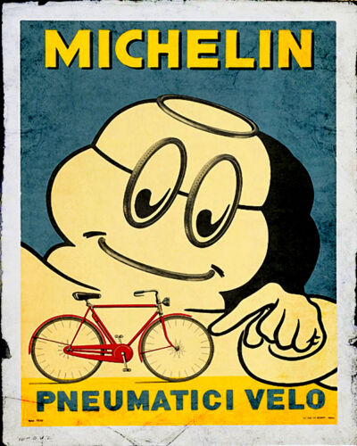 michelin man Garage VINTAGE ADVERTISING ENAMEL METAL TIN SIGN WALL PLAQUE