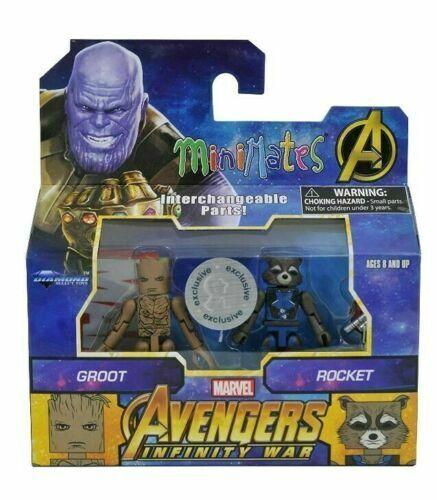 Marvel Minimates Figure Avengers Infinity War Groot & Rocket Toys R Us Exclusive