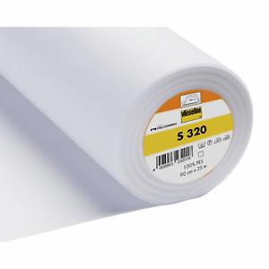 S320-Vlieseline iron-on interligne-Soft-Blanc