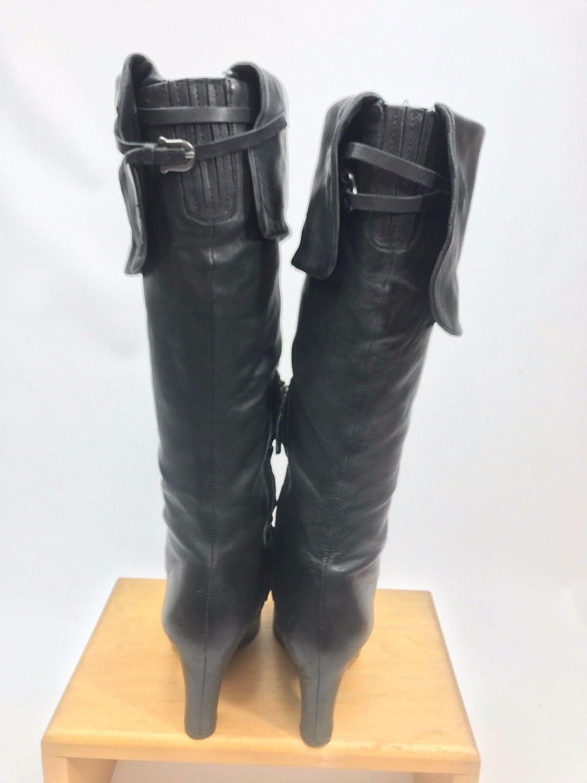 Sam Edelman Edelman Edelman SARAH Women Over Knee Boots Size 5.5M Black Leather EUC ce89bc
