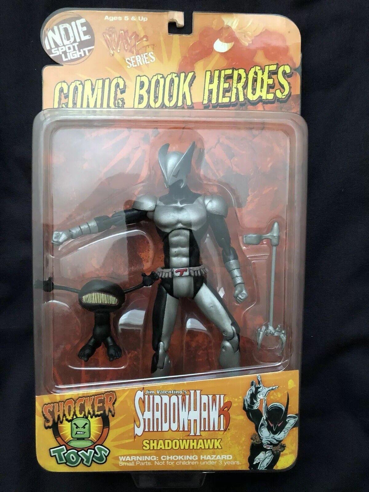 Indie Spot Light Comic Book Heroes ShadowHawk Shocker Toys Shadow