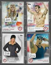ALL (4) TOPPS OLYMPIC COMPLETE SETS ~ 2012 ~ 2014 ~ 2016 ~ 2018 PHELPS BILES KIM