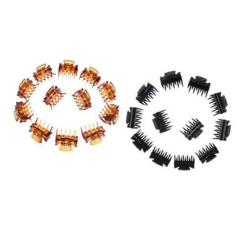Packung mit 24 Harz Mini Haarspangen Klaue Kunststoff Haar Griffe Hair