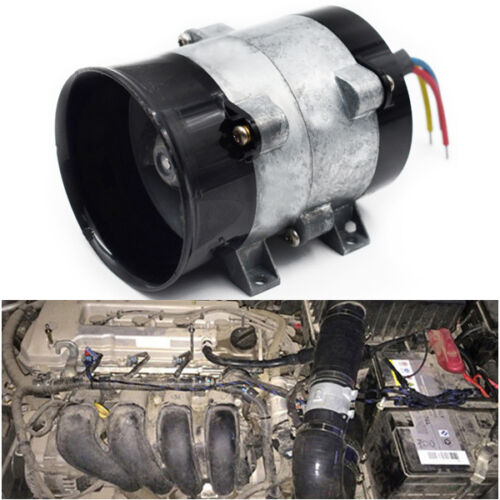 Car 12V 16.5A Electric Turbine Turbo Charger Air Intake Turbo Fan Bold Line Cool