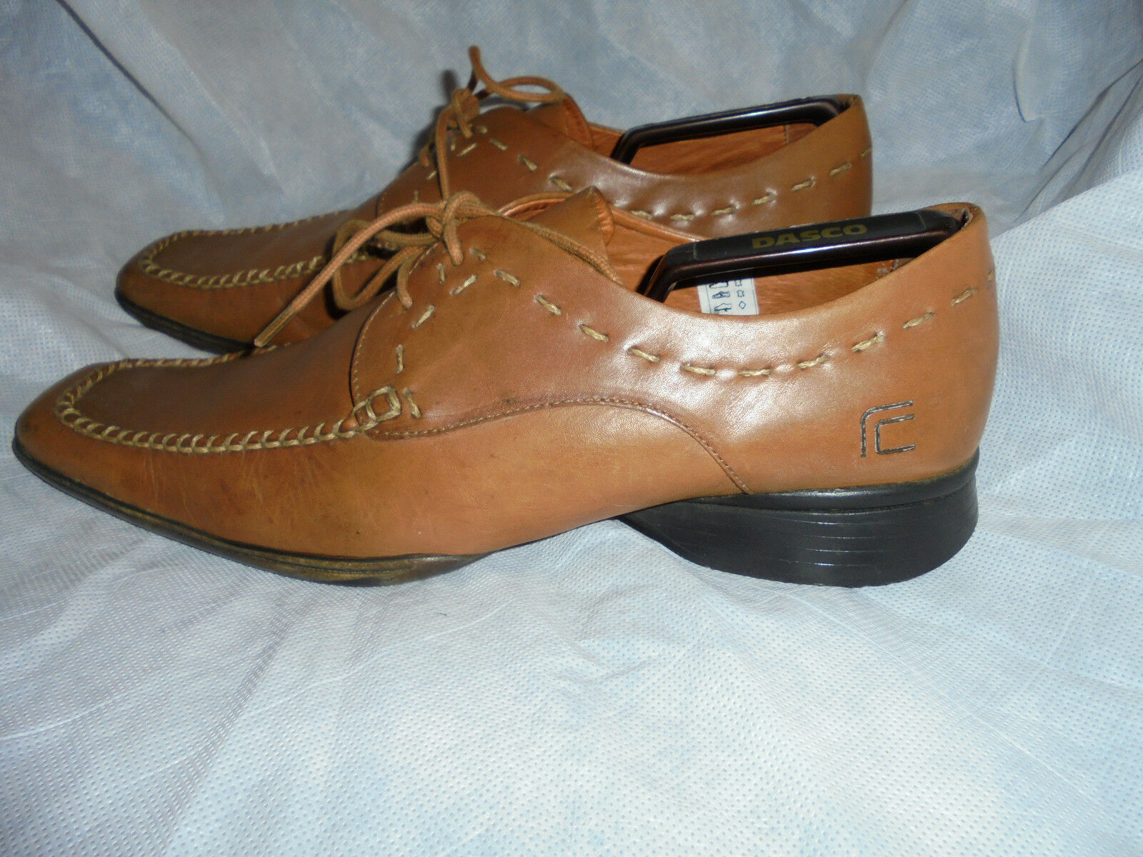 FCUK MEN'S BROWN LEATHER LACE UP SHOES SIZE VGC