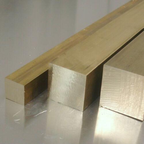 Laiton carrée 35x35mm longueur au choix ms58 4 pans 4-Kant vollstab CuZn 39bp3