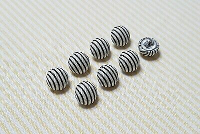 8//9//10//11//12mm Black Ball Buttons Concealed Fixing Sewing Knitting Craft Eyes B9