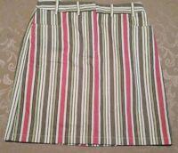 Ann Taylor Loft Size 4 Striped Skirt