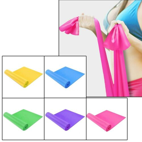 1* TPE Elastic Resistance Bands For Yoga Pilates Dance Stretch Band Fitness
