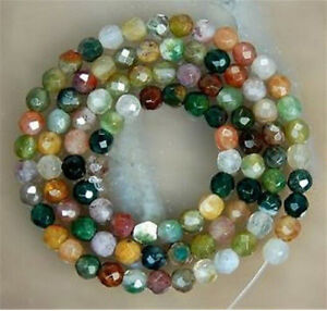 faceted Watermelon Tourmaline Gems Round loose Bead 15/'/' AAA 6mm