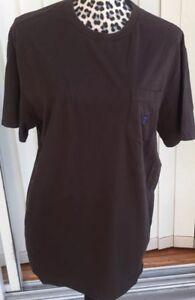 Daniel-Cremieux-Club-38-Short-Sleeve-crew-neck-T-Shirt-Front-Pocket-Brown-Medium