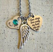 custom personalized Memorial Necklace grandma Father Dad mother loss keepsake