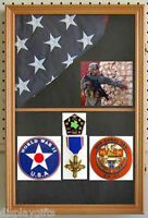 Military Shadow Box Display Case For 3'x5' American Flag Folded, Fc09-