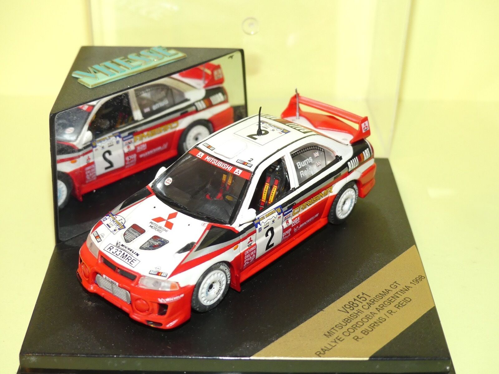 MITSUBISHI CARISMA GT RALLYE D'ARGENTINE 1998 R. BURNS VITESSE V98151 1 43
