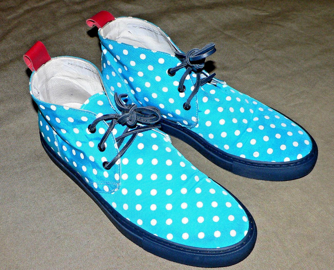 Del Tgold 312 Alto Polka White Dots Chukka Sneaker Aqua color US SIZE 9