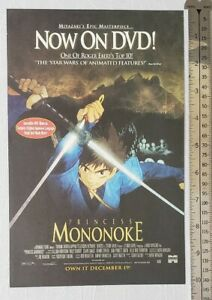 Princess-Mononoke-Movie-RARE-Print-Advertisement